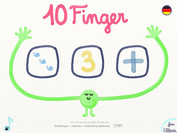 Kinder Lern App Zehn Finger