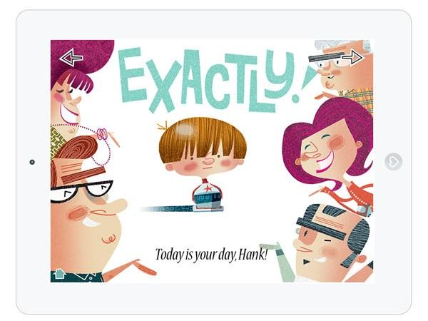 Niedliche englische Kinderbuch App für's iPad