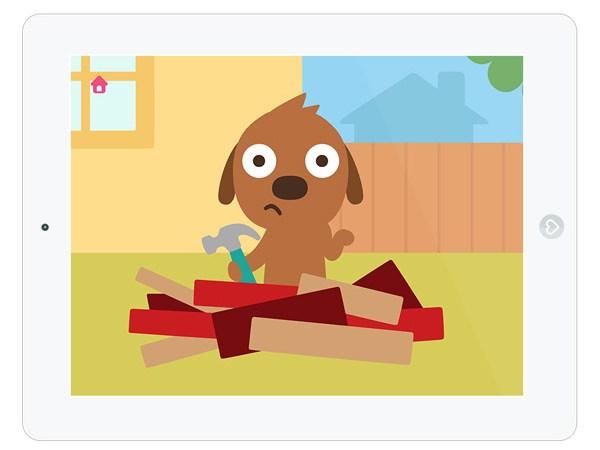 Kinder App zum Hämmern, Sägen und Bohren