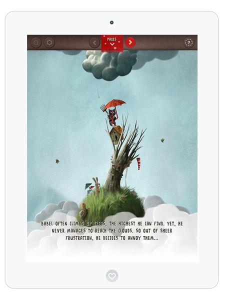 englische, interaktive märchenhafte Kinderbuch App