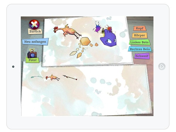 Kostenlose Lern und Spiele App über Kunst und Fantasie