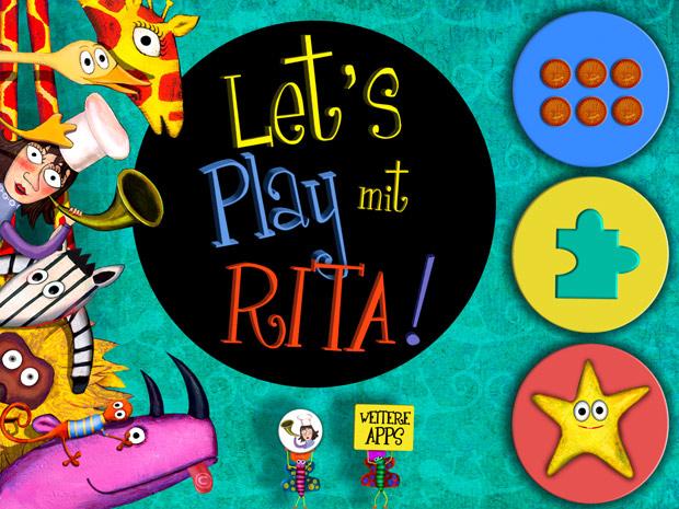 kunstvolle Kinderapp mit Memory und Puzzle Spiel