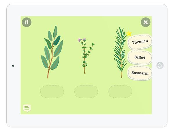 Kinder App über Ernährung und Lebensmittel