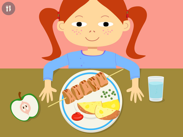 Lern App über Ernährung für Kinder