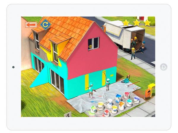 Kinder Simulations App über eine Baustelle