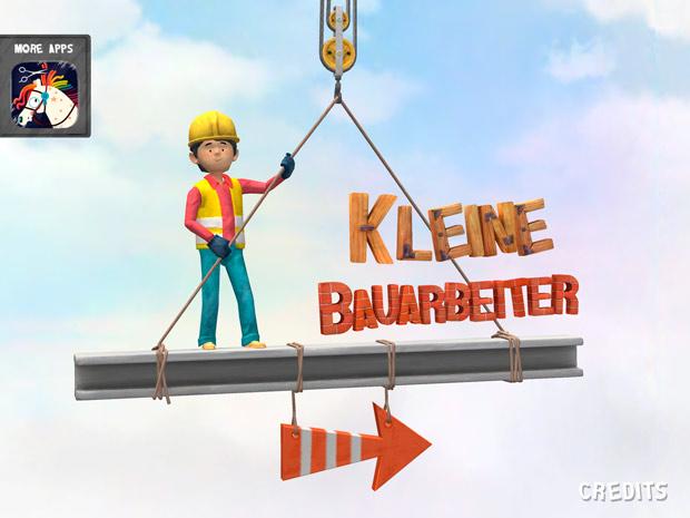 Kinder Simulations App mit Bauarbeitern