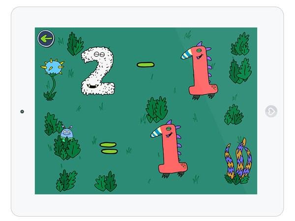 Schöne Kinder App zum Zahlen lernen mit den Fingern