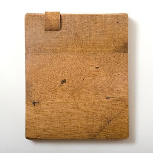 Handgemachte iPad Sleeves aus Holz – alter Tanzparkett