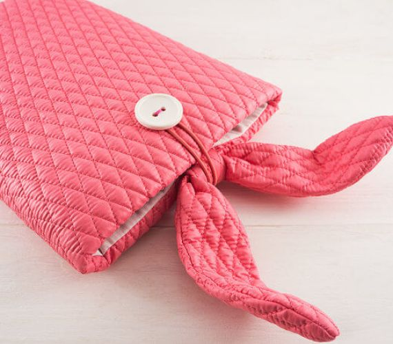 Multifunktionale Tablet-Hülle – Hasenohren pink