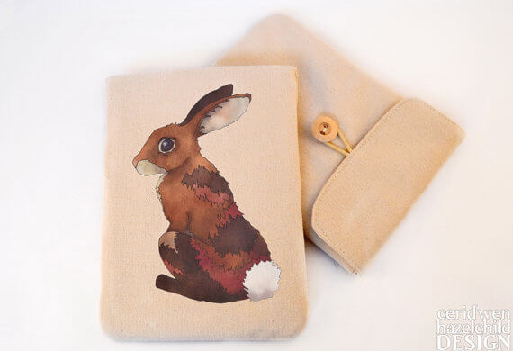 Tablet Sleeves mit Illustration – Hase