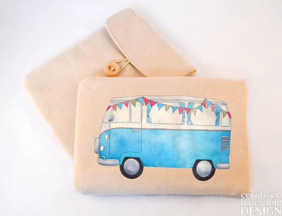 Tablet Sleeves mit Illustration – VW Bus