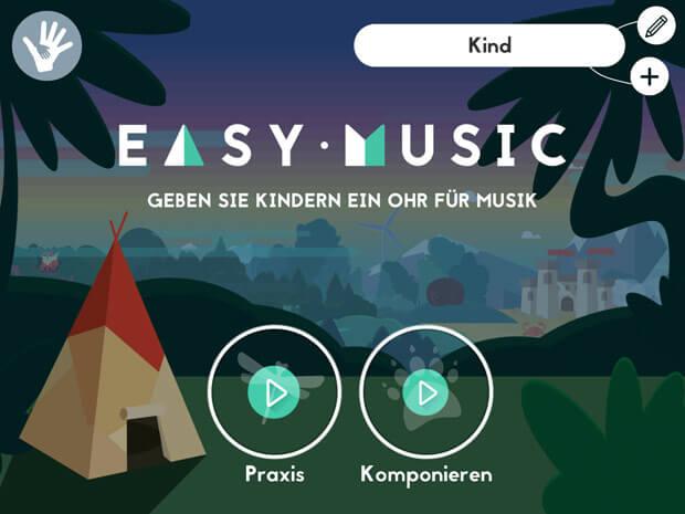 Kinderapp zum Sounds machen und Melodien nachspielen