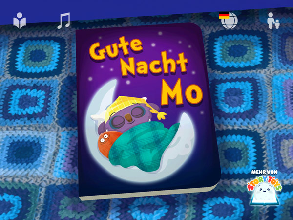 Vertäumte Gute-Nacht-App für Kleinkinder