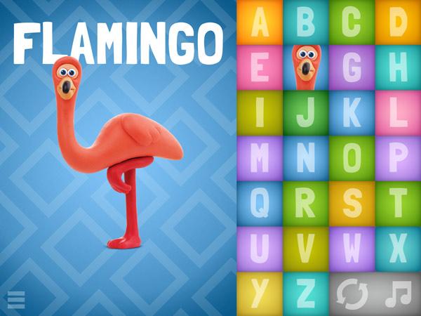 Tolle Buchstaben Lern App mit Tieren aus Knete
