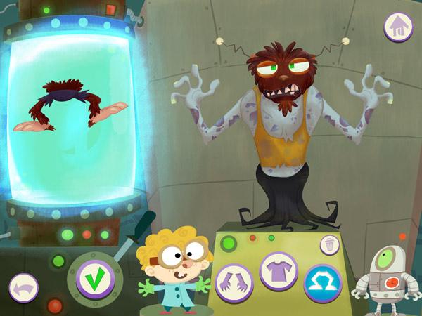 Witzige App für Kinder zum Monster bauen und Leute erschrecken