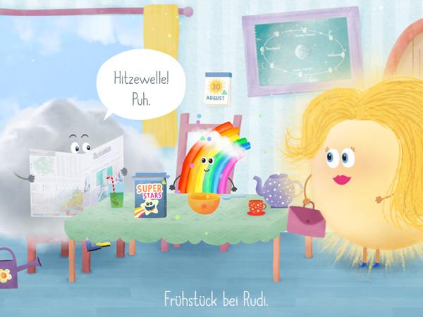 Interaktive Kinderbuch-App Rudi Regenbogen – Walter Wolke
