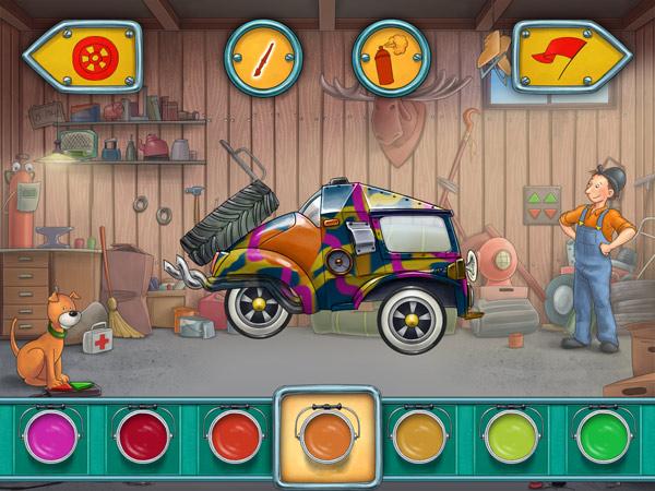 Baukasten Auto App für Jungs