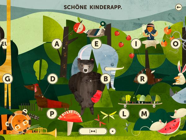 Lehrreiche und schöne ABC Lern App für Schulkinder
