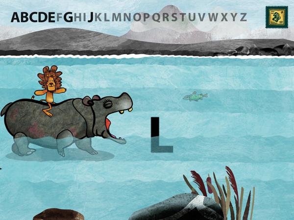 Schöne ABC Lernapp für Schulkinder mit Tieren