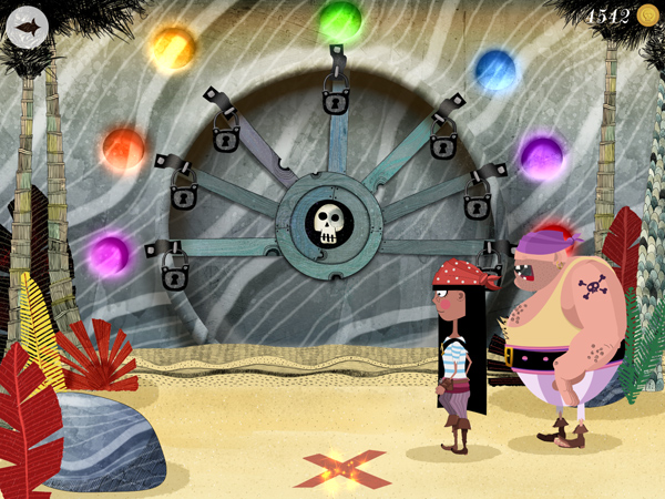 Kinder Piraten App mit lustigen Minispielen