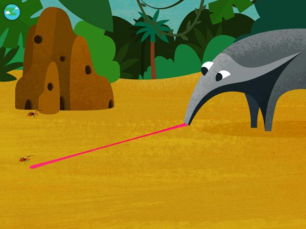 Kinder Spiele App mit Tieren