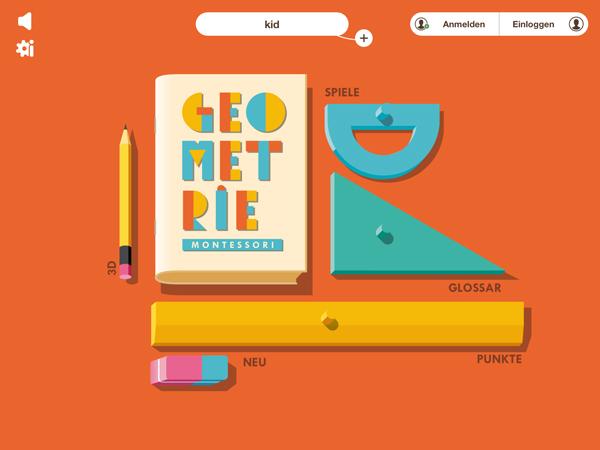 Montessori Geometrie: gute Lern-App rund um 2D und 3D Formen