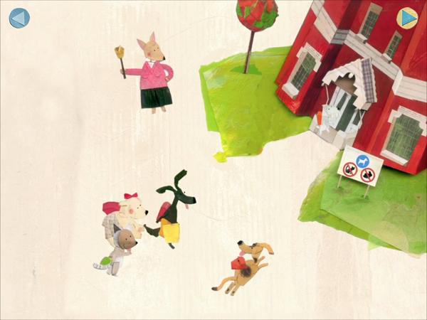 Kinderbuch App über eine Katze, die ein Hund sein möchte