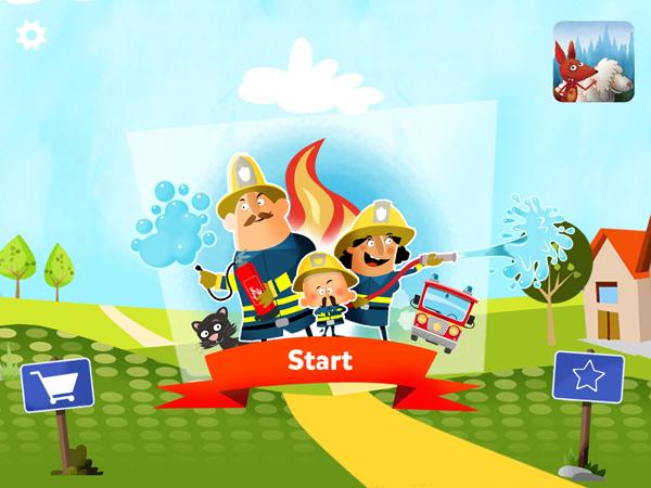 Kleine Feuerwehr: die perfekte Kinder-App für kleine Feuerwehrmänner und Feuerwehrfrauen