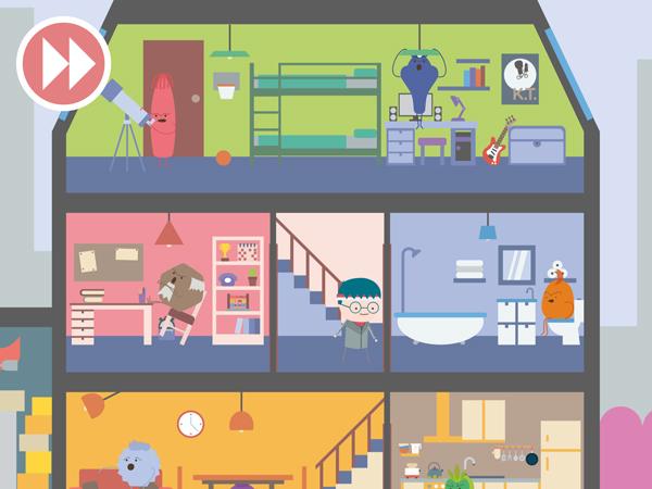 Unterhaltsame kostenlose Spiele-App für Kinder fürs iPad