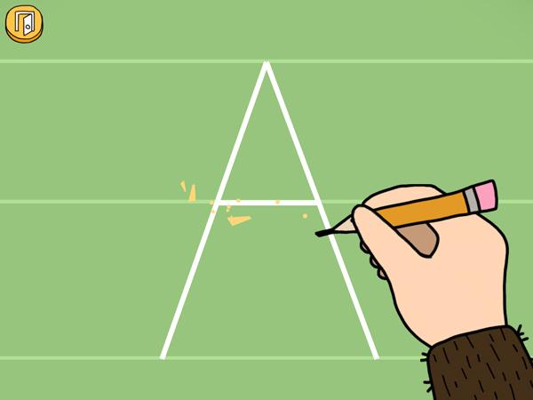Schöne Lern App für Kinder zum Buchstaben lernen