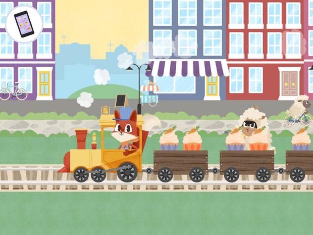 Schöne App für Kinder zum Eisenbahn Fahren und Spielen
