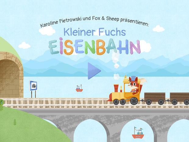 Kleiner Fuchs Eisenbahn: Bezaubernde Spiele-App für kleine Eisenbahn-Fans