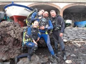 20110123 1105 - Abi, Adrián, Juan, Sacha Buceadores, Teno