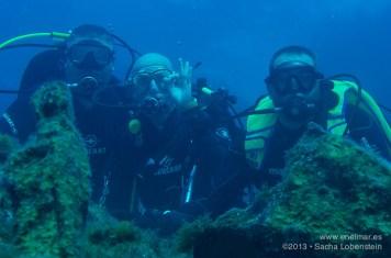 20130113 1054 - enelmar.es - Juan, Marcos, Moises, Muelle de El Porís de Abona