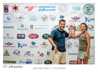 17º - 208 puntos:Javier Bermudez y Ana Clavero