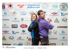 3º - 296 puntos: Yeray Delgado y Abigail Martín