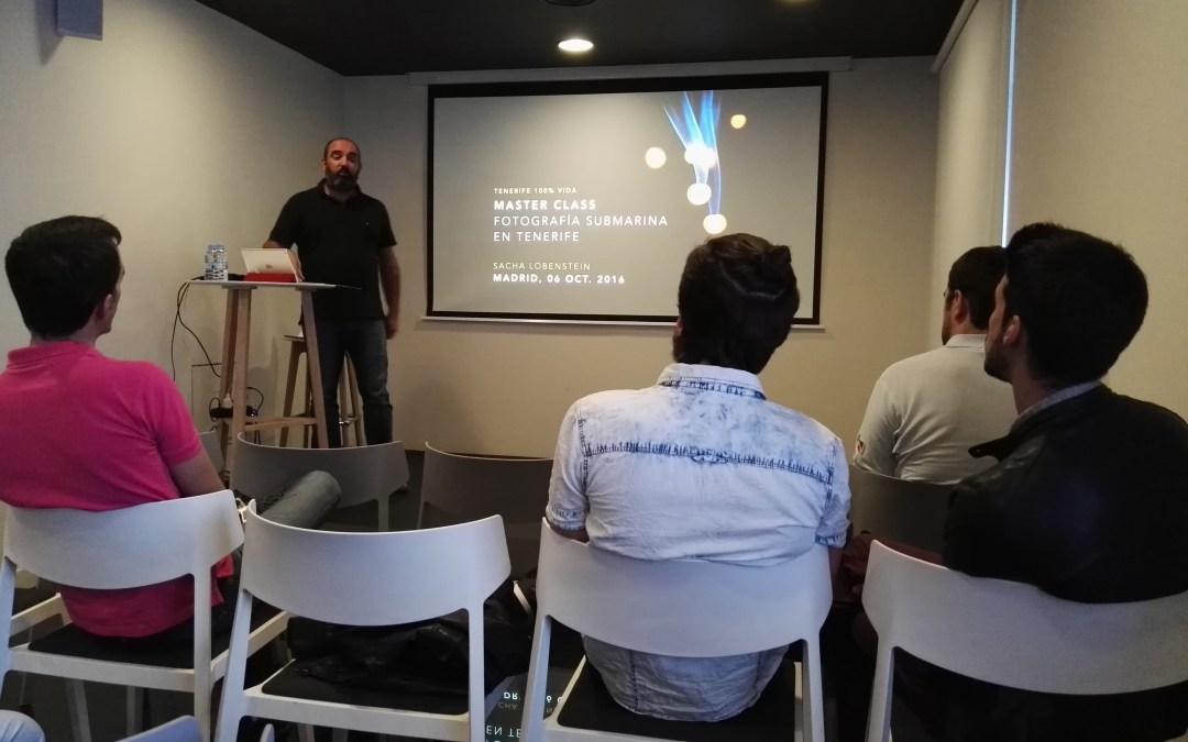 "Master Class en Madrid sobre ""Fotografía Submarina en Tenerife"""