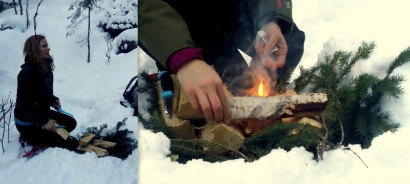 Snöskor i Åre med Katta