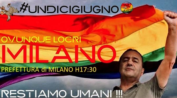 Presidio per Mimmo Lucano l'11 giugno a Milano