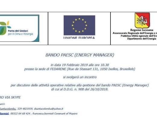 Regione Sicilia: tutti i dettagli del Bando PAESC Energy Manager