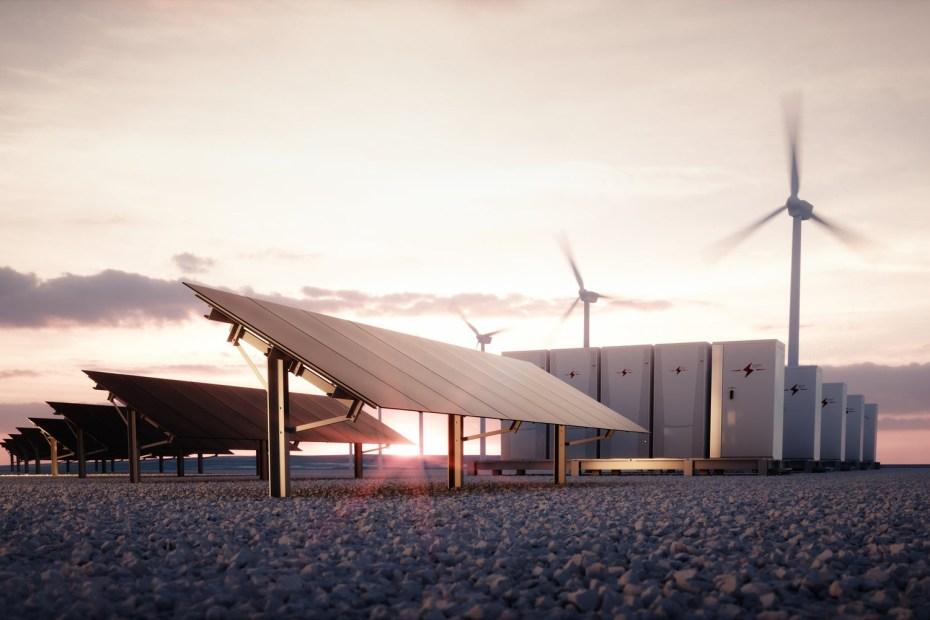 Almacenamiento de energía renovable en baterías