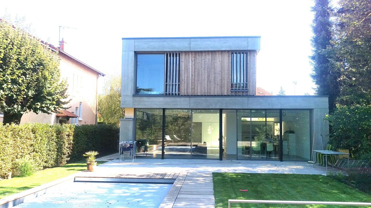 plan maison ossature bois isere