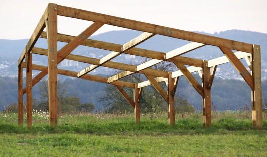 batiment agricole bois monopente en kit