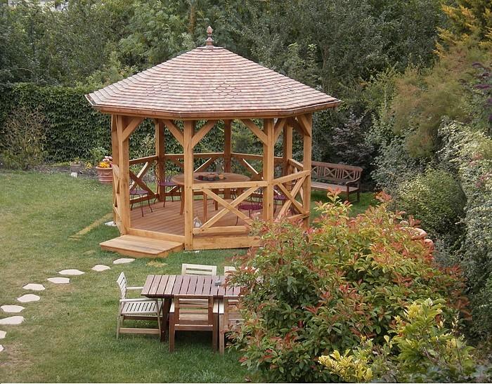 pergola bois avec toit