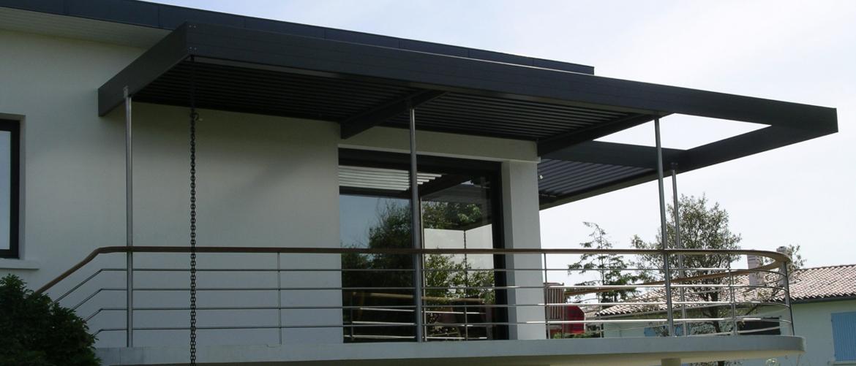 pergola bois balcon