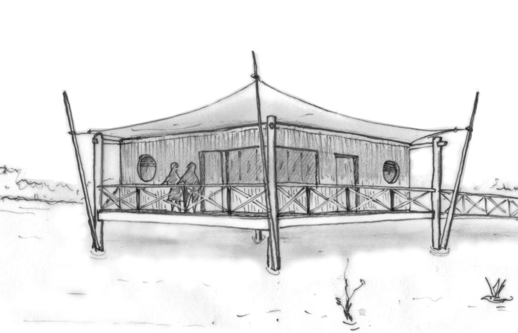 plan de maison en bois sur pilotis