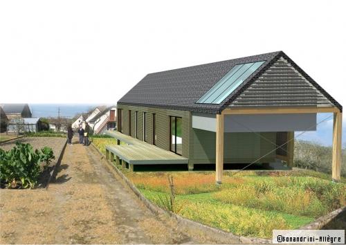 plan maison bois longère
