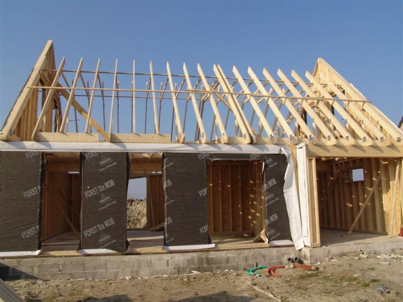 plan maison ossature bois en l