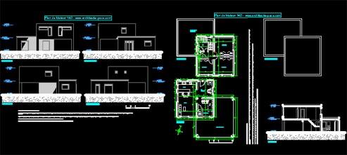 plan maison bois dwg