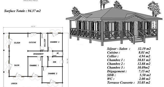 Plan Maison Coloniale Bois Gratuit